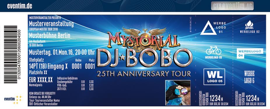 Karten für DJ BoBo: Mystorial - 25th Anniversary Tour in Erfurt
