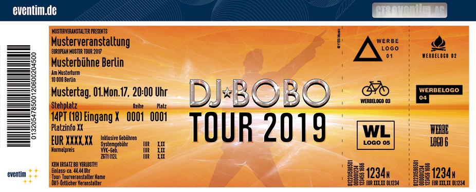 Karten für DJ BoBo - Live 2019 in Stuttgart