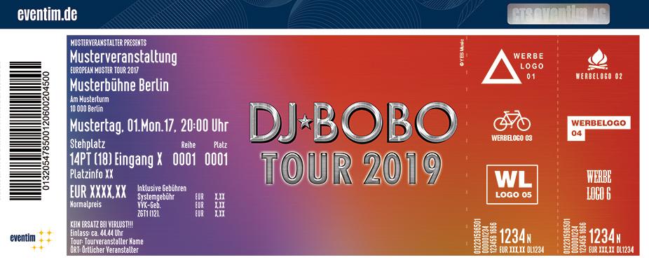 Dj Bobo Karten für ihre Events 2017