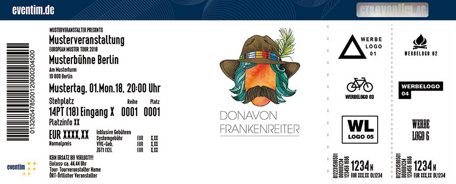 Donavon Frankenreiter Karten für ihre Events 2018