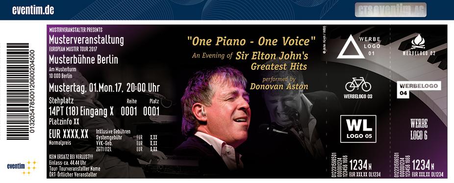 Karten für Donovan Aston: An Evening Of Sir Elton John#S Greatest Hits in Ballenstedt