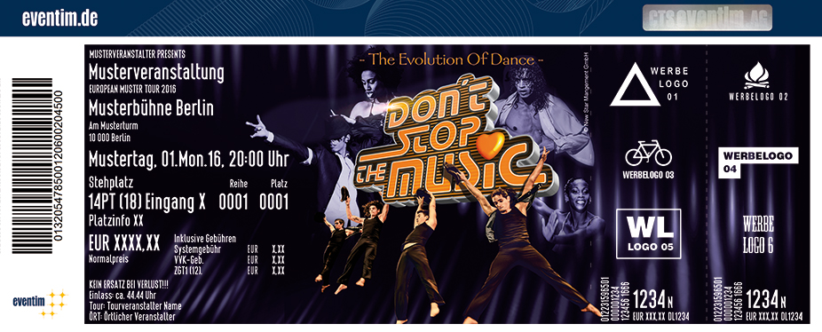 Karten für Don't Stop The Music - The Evolution Of Dance in Neuenhagen Bei Berlin