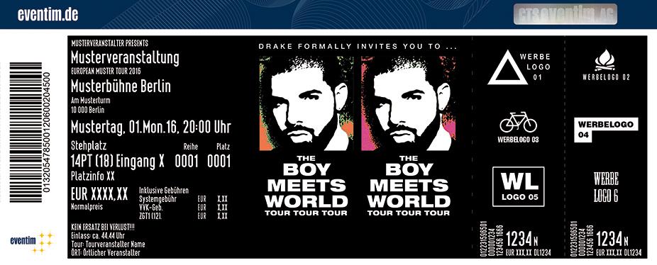 Drake Karten für ihre Events 2017