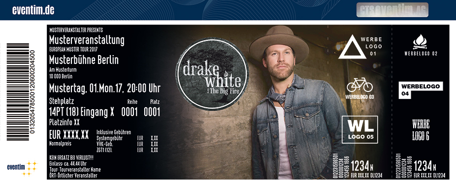 Karten für Drake White and The Big Fire in Hamburg