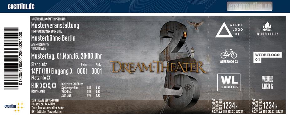 Dream Theater Karten für ihre Events 2017