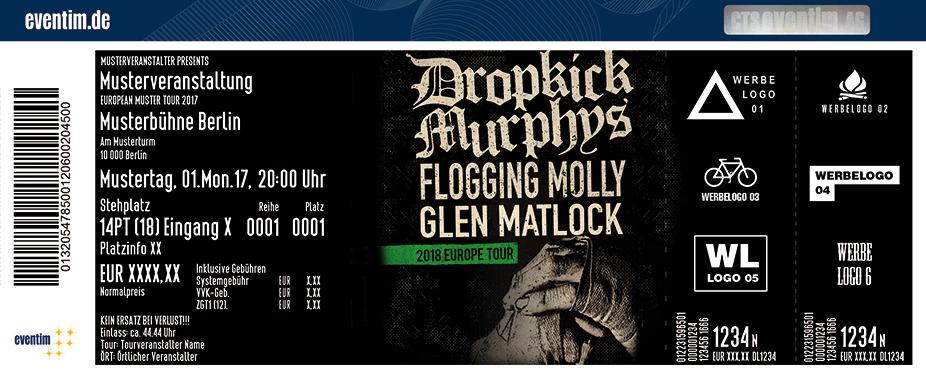 Karten für Dropkick Murphys & Guest: Flogging Molly in Mannheim
