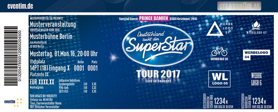 Deutschland Sucht Den Superstar Karten für ihre Events 2017