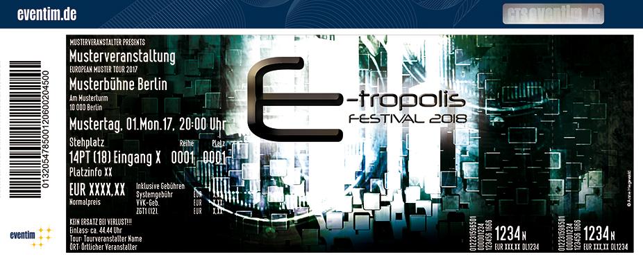 Karten für E-tropolis Festival 2018 - Turbinenhalle Oberhausen in Oberhausen