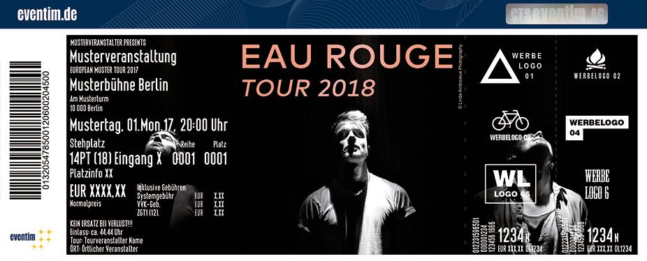 Eau Rouge Karten für ihre Events 2018