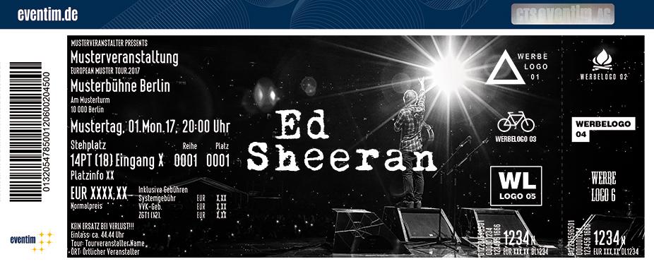 Karten für Ed Sheeran 2018 in Berlin