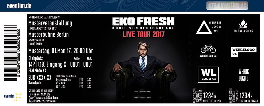 Karten für Eko Fresh: König von Deutschland Tour 2017 in Bochum