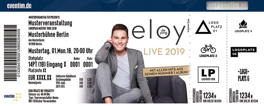 Jetzt Tickets Für Eloy De Jong Live 2019 Sichern Eventim