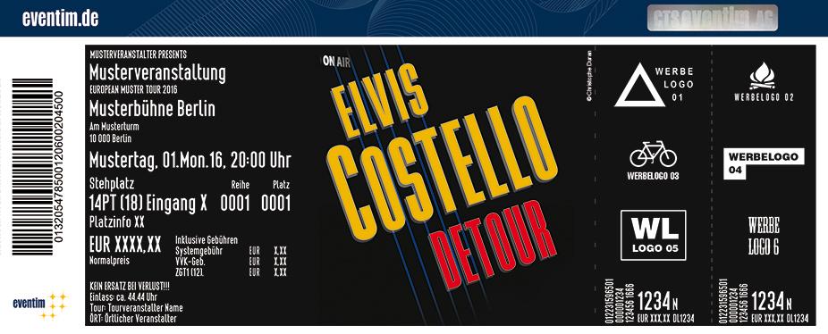 Elvis Costello Karten für ihre Events 2017