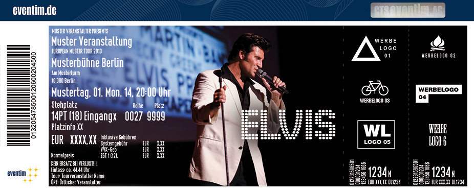 Karten für A Tribute to Elvis Dinner Show - The Multimedia Experience in Romrod