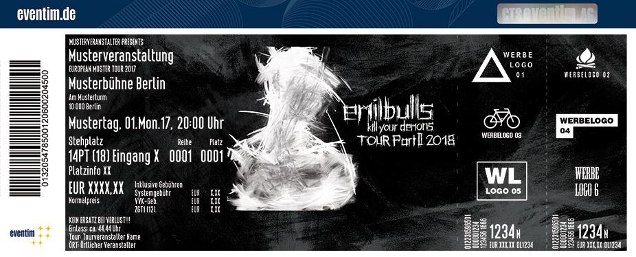 Emil Bulls Karten für ihre Events 2017