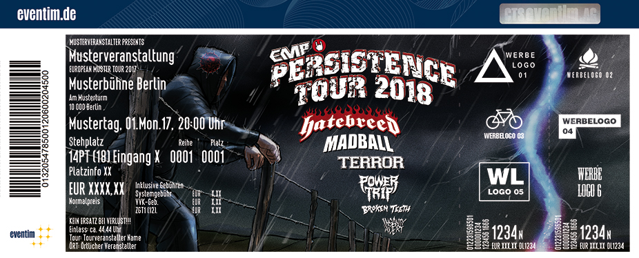 Karten für EMP Persistence Tour 2018 in München