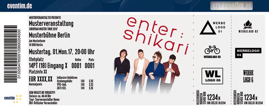 Enter Shikari Karten für ihre Events 2017