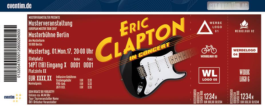 Eric Clapton Karten für ihre Events 2018