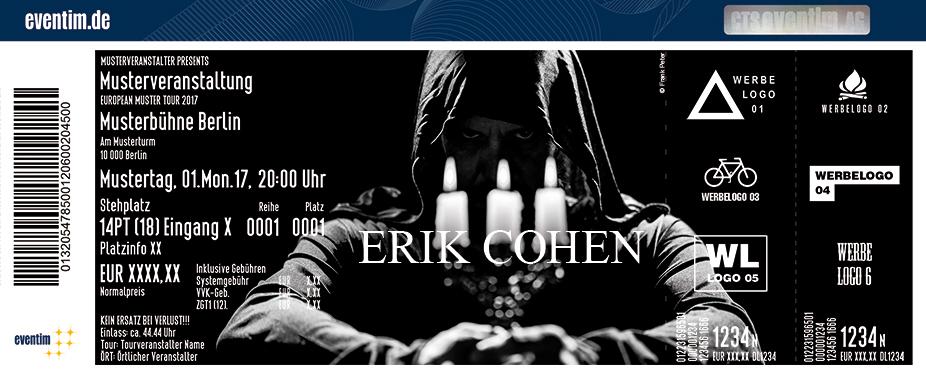 Karten für Erik Cohen - Live 2018 in Dresden