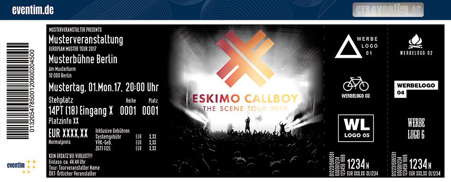 Eskimo Callboy Karten für ihre Events 2017
