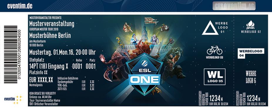 Esl One Karten für ihre Events 2017