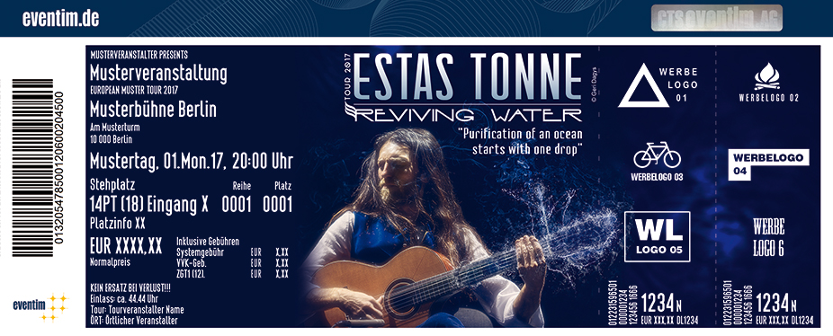 Karten für Estas Tonne: Reviving Water Tour 2017 in Stuttgart