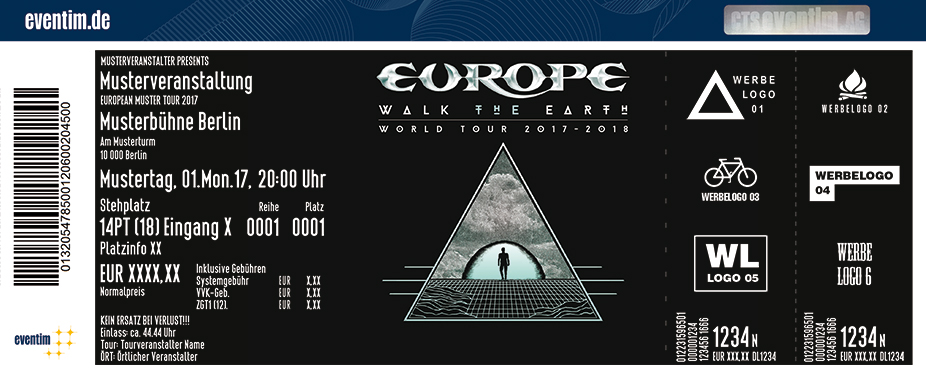 Europe Karten für ihre Events 2017