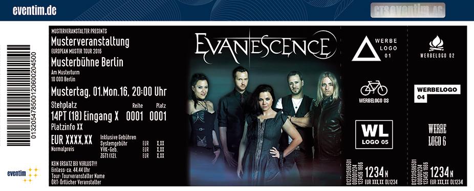 Evanescence Karten für ihre Events 2017