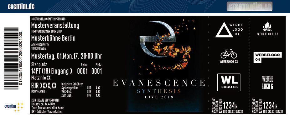 Karten für Evanescence: Synthesis Live with Orchestra in Leipzig