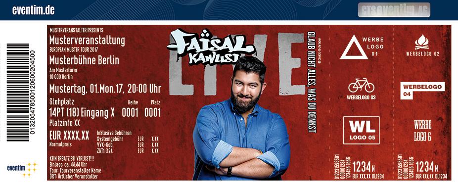 Karten für Faisal Kawusi: Glaub nicht alles, was du denkst in Duisburg-Rheinhausen