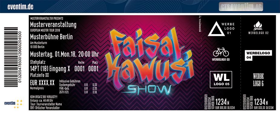 Karten für Faisal Kawusi-Show - TV-Aufzeichnung in Köln