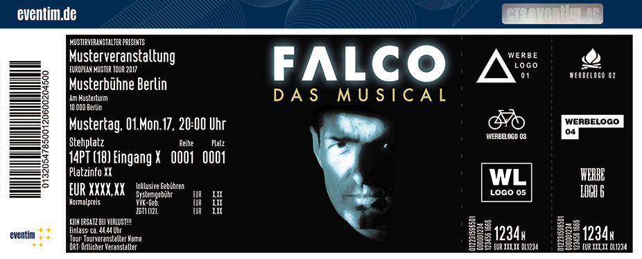 Karten für Falco - Das Musical 2018 in Freiburg