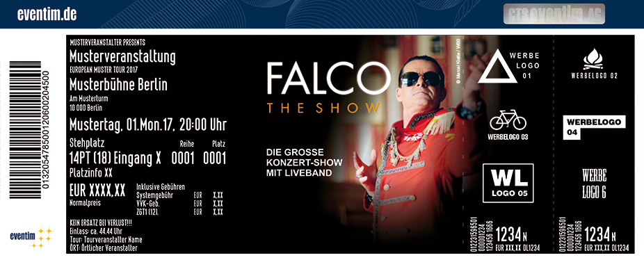 Karten für Falco The Show in Weiden