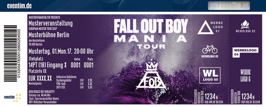 Fall Out Boy Karten für ihre Events 2017