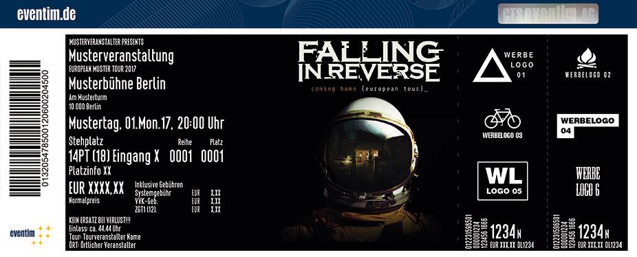 Falling In Reverse Karten für ihre Events 2017