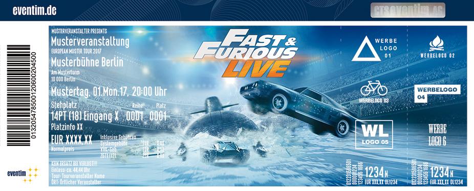 Karten für Fast & Furious Live in Berlin