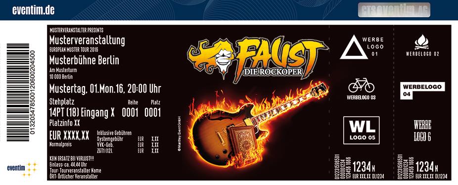 Karten für Faust - Die Rockoper Teil I: Goethe - Texte, Live-Band & Sänger in Holzminden