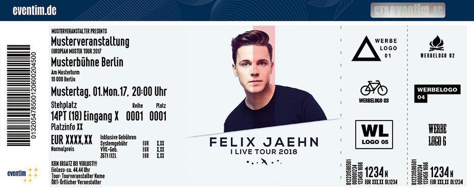 Felix Jaehn Karten für ihre Events 2018