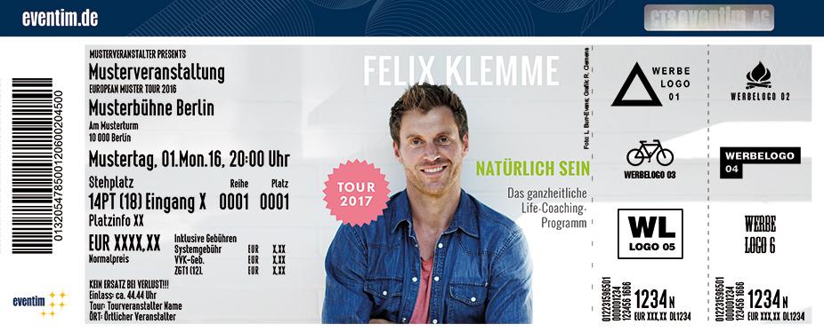 Karten für Felix Klemme: Natürlich sein in Aschaffenburg