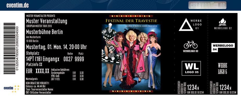Karten für Festival der Travestie: Maria Crohn und Friends in Dippoldiswalde