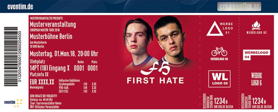 Karten für First Hate in Frankfurt / Main