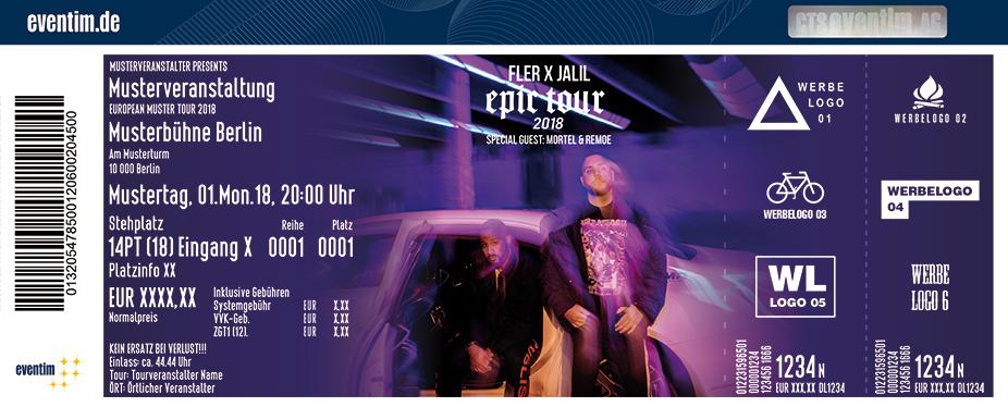 Karten für FLER x JALIL: Epic Tour in Köln