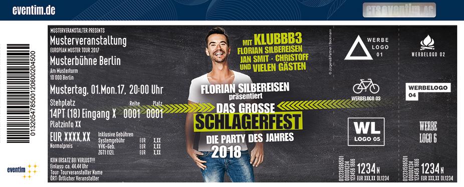 Karten für Florian Silbereisen präsentiert: DAS GROSSE SCHLAGERFEST - Die Party des Jahres 2018 in Regensburg