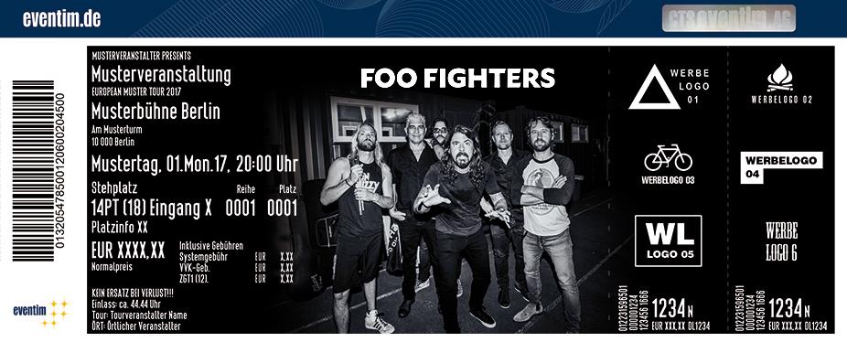 Foo Fighters Karten für ihre Events 2018