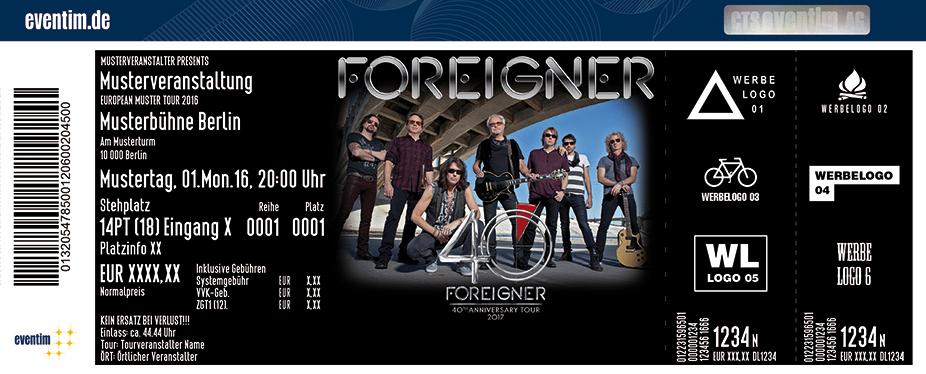 Foreigner Karten für ihre Events 2017