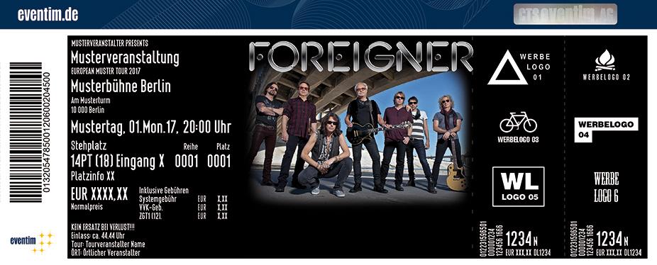 Foreigner Karten für ihre Events 2018