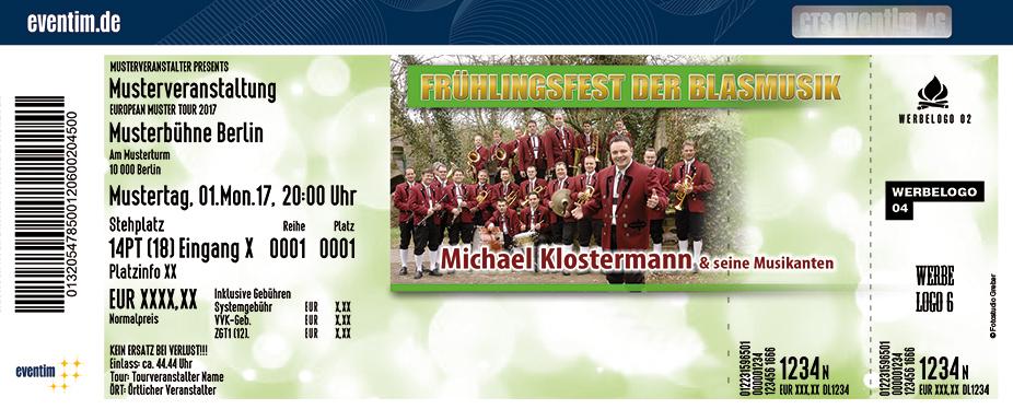 Karten für Frühlingsfest der Blasmusik: Michael Klostermann in Leinefelde