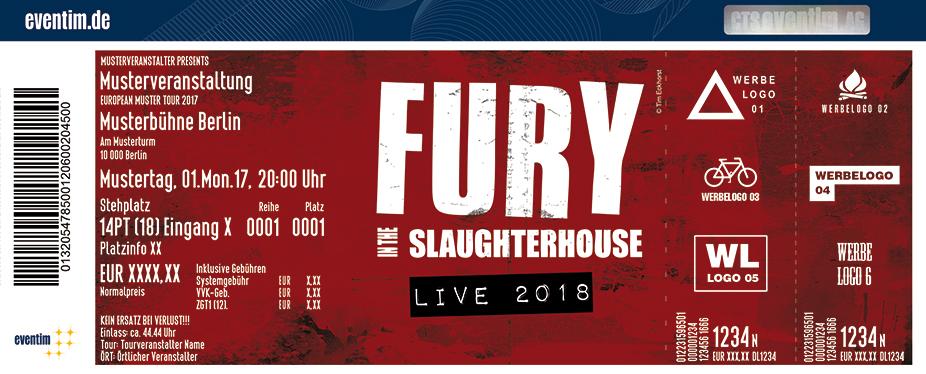Fury In The Slaughterhouse Karten für ihre Events 2018