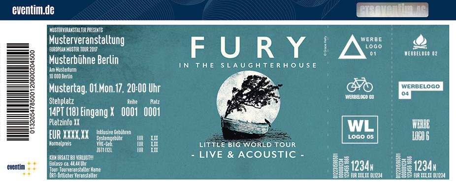 Karten für Fury in the Slaughterhouse: Little Big World Tour - Live & Acoustic in Hamburg
