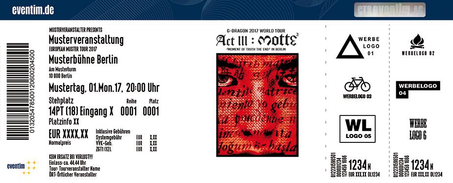Karten für G-Dragon - World Tour 2017 in Berlin